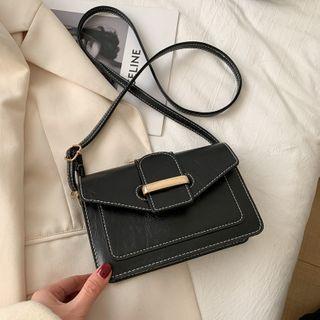 Diamante(ディアマンテ) - Plain Flap Crossbody Bag