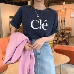 Cherryville(チェリーヴィレ) - Letter Print T-Shirt
