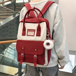 ETY - Nylon Color Block Backpack
