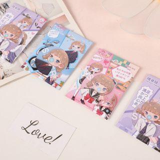 SASHI - Cartoon Girl Print Portable Mirror