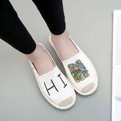 Shusi - 印花麻底輕便鞋