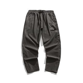 Corrente - Plain Button-Side Tapered Pants