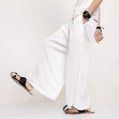 Andrei(アンドレイ) - Plain Wide-Leg Pants