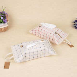 Hyole - Plaid Fabric Tissue Cover