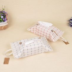 Hyole - Plaid Fabric Tissue Cover