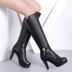 Clisson - High-Heel Tall Boots