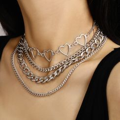 Seirios - Set of 4: Chunky Alloy Necklaces