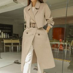 DABAGIRL - [BLACK LABEL] Handmade Two-Ways Trench Coat with Belt