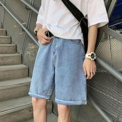 Cowpow - Knee-Length Denim Shorts