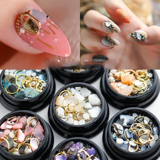 WGOMM - Faux Pearl Shell Nail Art Decoration