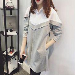 Superduper - 拼接裙衣衬衫