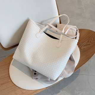 KOCORE - Faux Leather Tote Bag
