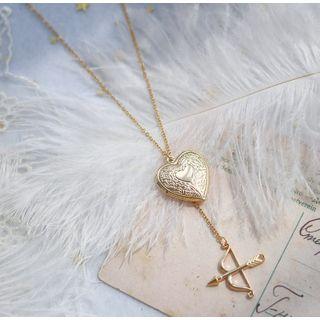 Eleven Era - Alloy Arrow & Heart  Pendant Necklace