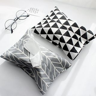 Moodin - Printed  Linen Cotton Tissue Cover