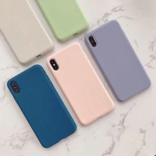 Edgin - 纯色矽胶手机保护套 - iPhone XS Max / XS / XR / X / 8 / 8 Plus / 7 / 7 Plus / 6s / 6s Plus