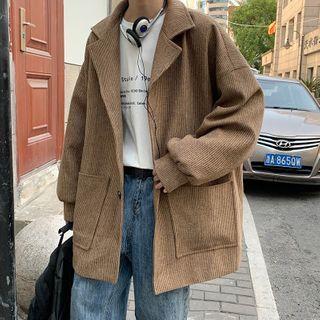 POSI - 平駁領單排扣大衣