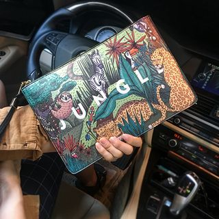 BagBuzz - Printed Faux Leather Clutch
