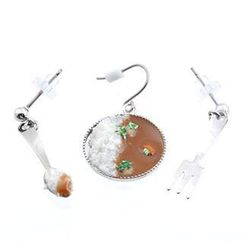 Fit-to-Kill - Delicious curry, spoon & fork earrings