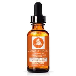 Oz Naturals - Suero facial con vitamina C + AHA