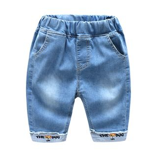 Seashells Kids - Kids Embroidered Cropped Jeans