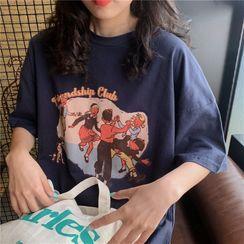 DiBi - Elbow Sleeve Graphic Tee