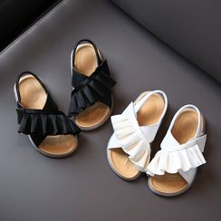Creayu - Kids Ruffled Slingback Sandals