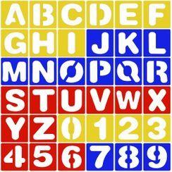 Tivi Boutique - 字母 / 數字繪圖模板