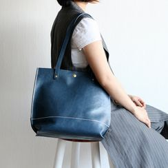 Mango Fish - Genuine Leather Tote Bag