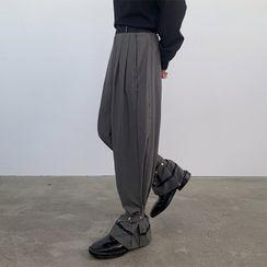 VEAZ - Gathered Cuff Straight Leg Pants
