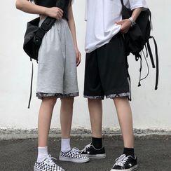 Shineon Studio - Pattern Panel Plain Shorts