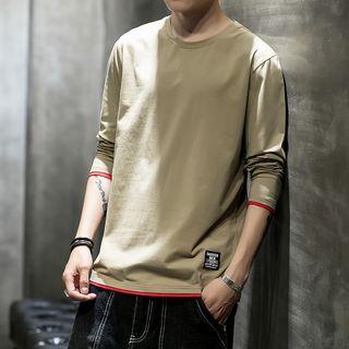 Andrei(アンドレイ) - Contrast Trim Long-Sleeve T-Shirt