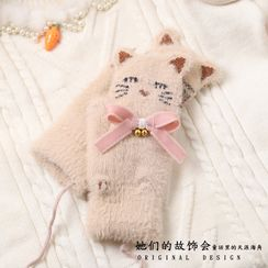 AOI - Chenille Cat Mittens
