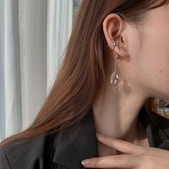 Honne - 925純銀人造水晶耳墜