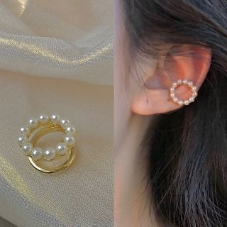 PO!NY STUDIO - 飾珠夾式耳環