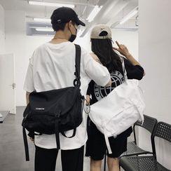 Carryme - Lettering Buckled Nylon Crossbody Bag
