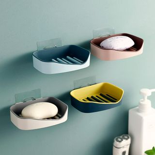 Fun House - Two-tone Plastic Soap Adhesive Wall Organizer