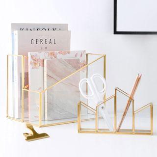 Baeps - Metal & Glass Desk Organizer