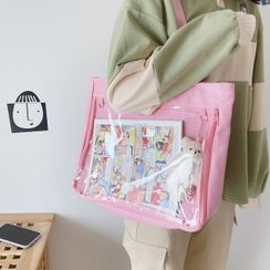 Caraket - Transparent Pocket Canvas Tote Bag