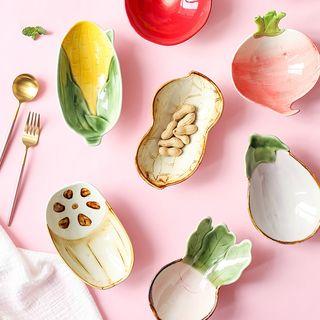 川島屋 - 蔬菜陶瓷碟 (多款設計)