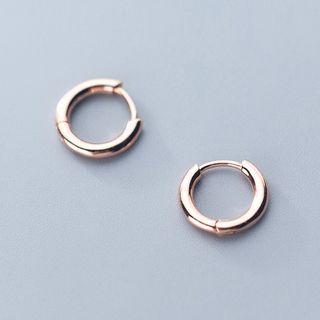 A'ROCH - 925 Sterling Silver Polished Hoop Earrings