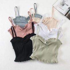 Hollahop - Ruffle Trim Camisole Top