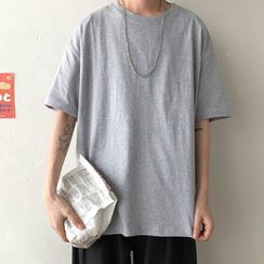 FOEV - Plain Short-Sleeve T-Shirt