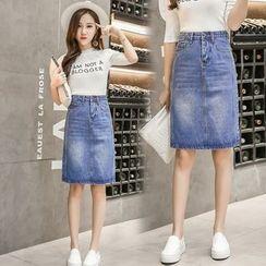 Solaria - A-Line Denim Skirt