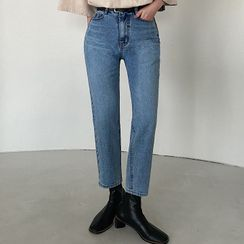MERONGSHOP - Washed Tapered Jeans