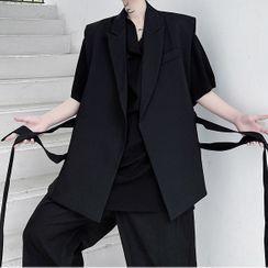 Citigleam - Open-Front Sleeveless Vest