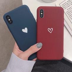 Aion - Heart Print Mobile Case - iPhone XS Max / XS / XR / X / 8 / 8 Plus / 7 / 7 Plus / 6S / 6S Plus
