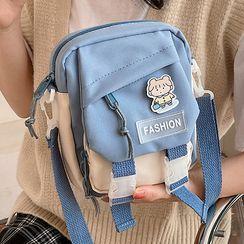 Meowi - Buckled Canvas Crossbody Bag