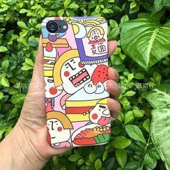 Cellfie - Cartoon Print Mobile Case - iPhone 7 / 7 Plus / 6s / 6s Plus