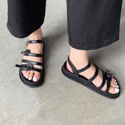Anran - Ankle-Strap Flat Sandals