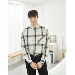 GERIO(ゲリオ) - Pocket-Front Checked Boxy Shirt